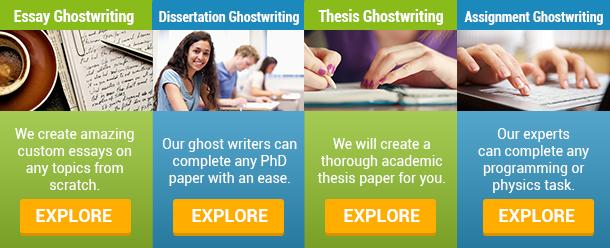 ghostwriter academic essay