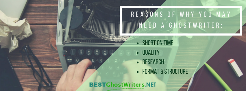 reasons of why you may need a ghost writer washington