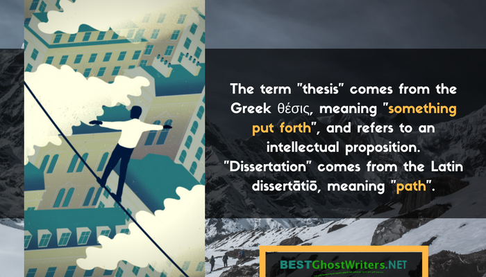 etymology of thesis and dissertation