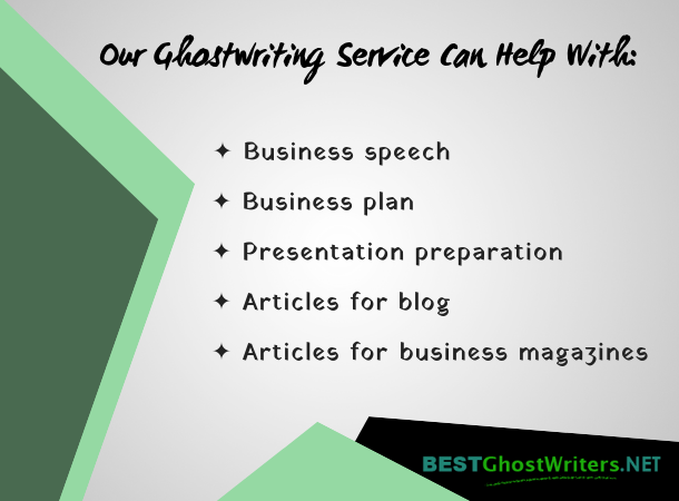 ceo ghostwriting service help