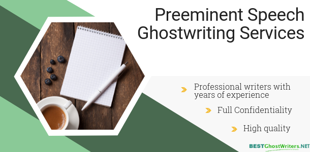 order speech ghostwriting